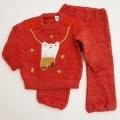 レトロ おとぎの国 刺繍つきのニットスーツ 2才用(90cm) (1712-8900)