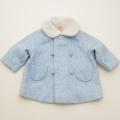 レトロ ボア衿つきコート Mサイズ (1802-9581)