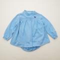 レトロ チャイルドのお洋服 ブルマ付き 24か月(90cm)サックス(1803-9807)