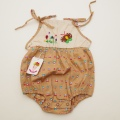 レトロ エンゼルベビーのロンパス 刺繍付き  2才(90cm)(1803-9840)