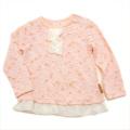 Lily ivory (リリーアイボリー)長袖Tシャツ ピンク色90cm (71131x71431-161A)
