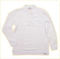 スクール ポロシャツ 長袖 白 130-150cm(10000-T)