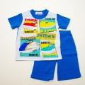 でんたま(新幹線)半袖Tシャツ生地のパジャマ 100-130cm(832DT007112)