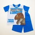 ダイナソー(恐竜)Tシャツ生地の半袖パジャマ 100cm-130cm(832DN007112)