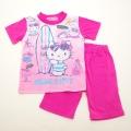 サンリオ ハローキティ 半袖Tシャツ生地のパジャマ  100-130cm(832KT007112)