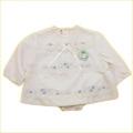 レトロ お花刺繍のお洋服 ブルマ付き S(75cm) (1804-0391)