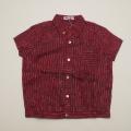レトロ チルドレンの半袖シャツ 5-6才(1804-0438)