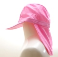 日よけ つば 付き スイムキャップ キッズ  水泳帽 ピンク (CAT-1016-PK)