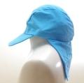 日よけ つば 付き スイムキャップ キッズ  水泳帽 サックス (CAT-1016-SX)