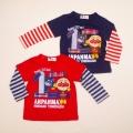 アンパンマン フェイクレイヤード 長袖Tシャツ  90cm-100cm (FA3547)