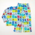 でんたま(新幹線) もこもこ長袖パジャマ 100-130cm(834DT107113)