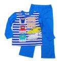 でんたま(新幹線) Tシャツ生地 長袖パジャマ 蓄光 100~130cm(931DT108113)