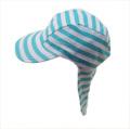 日よけ つば 付き スイムキャップ  水泳帽 ボーダー (CAT-19-BG)