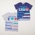 でんたま(新幹線) 半袖Tシャツ 100cm-130cm (942DT0021)