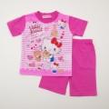 サンリオ ハローキティ 半袖Tシャツ生地のパジャマ  100-130cm(932KT007112)