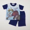 ダイナソー(恐竜) 半袖Tシャツ生地のパジャマ 100-130cm(932DN007112)