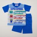 でんたま(新幹線) 半袖Tシャツ生地のパジャマ 100-130cm (932DT007112)