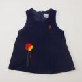レトロ チャイルドの刺繍つき ジャンパースカート 2〜3才用 (1905-2854)