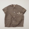 レトロ チャイルドの半袖シャツ 5-6才用(1905-2917)