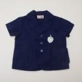 レトロ 半袖ブレザージャケット 3才用 紺色(1905-3262)