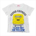でんたま(新幹線) 半袖Tシャツ 100cm-130cm 白(942DT0011-WT)