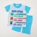 でんたま(新幹線) 半袖Tシャツ生地のパジャマ 90cm/100cm  (932DT0070)