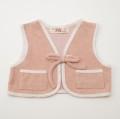 レトロ ピンク色のボレロ 1-2才用(1907-3487)