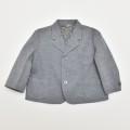 レトロ ブレザージャケット グレー Lサイズ(95cm) (1911-0613)