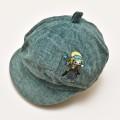 レトロ 日本製 帽子 キャップ 54cm グリーン (1911-0681)