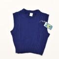 レトロ おとぎの国の毛糸ベスト 紺色 2-3才用  (1911-0701)