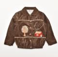 レトロ チャイルドの衿付き ジャンパー ジャケット 100cm(3-4才用) 茶色(1911-0834)