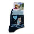 Disney(ディズニー) アナと雪の女王 靴下 オラフ キッズ 紺色 13〜19cm(700)