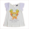 dollyribbon フレンチキャミソール Tシャツ フラワー 女児 110-130cm(152050)