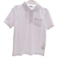 スクール ポロシャツ半袖 白 120cm-150cm(1705-0001