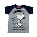 スヌーピー!半袖Tシャツ グレー100-130cm(542SN0041