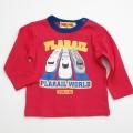 タカラトミー プラレール 長袖Tシャツ 赤80、90cm(P33401)