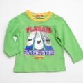 タカラトミー プラレール 長袖Tシャツ 黄緑80〜95cm(P33401)