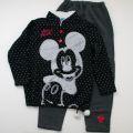 Disney(ディズニー) ミッキー 裏起毛 ルームウェア ブラック130-160cm (7-72769-BK)