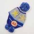 アンパンマン ニット帽 帽子 ブルー色 46-48cm/48-50cm(EA9776)