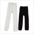 無地レギンス 足なし 白色/黒色 300デニール 95cm-150cm (L151223)