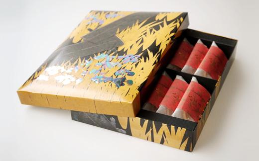 八橋蒔絵螺鈿硯箱 宝達プレミアム 14個入