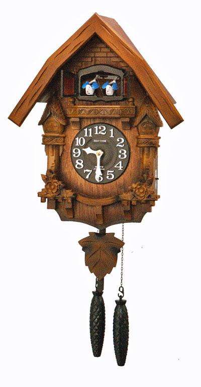 はとトケイ ハト時計 壁掛け時計 カッコーテレス リズム時計 RHYTHM 掛時計 4MJ236RH06 文字名入れ不可 取り寄せ品