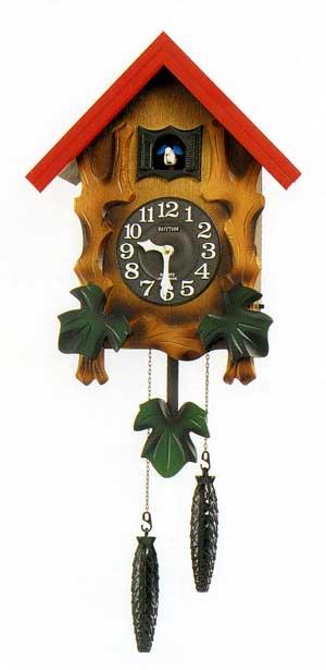 鳩時計 リズム RHYTHM 壁掛け時計 カッコーメルビルR 4MJ775RH06 文字入れ不可