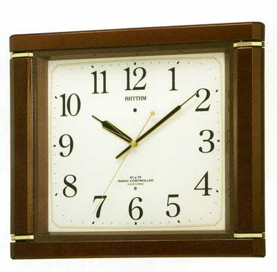 メロディ電波掛時計 リズム RHYTHM 壁掛け時計 4MN494RH06 文字入れ対応、有料 取り寄せ品