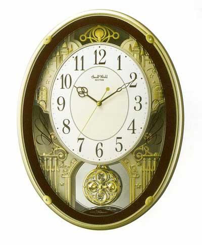 メロディ電波時計 壁掛け時計 スモールワールドプラウド 4MN523RH06 掛時計 リズム時計 文字入れ対応《有料》 取り寄せ品