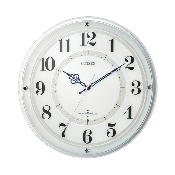 壁掛け時計 電波時計 AMラジオの報時も受信 4MY859-003 シチズン CITIZEN 文字入れ対応、有料 取り寄せ品