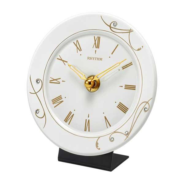 リズム時計 RHYTHM 置時計 池田製陶所 有田焼 アマービレR801 4SG801SR18 掛置兼用 クオーツ時計 取り寄せ品