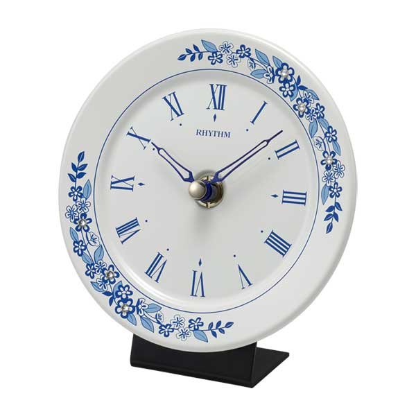 リズム時計 RHYTHM 置時計 池田製陶所 有田焼 アマービレR802 4SG802SR04 掛置兼用 クオーツ時計 取り寄せ品