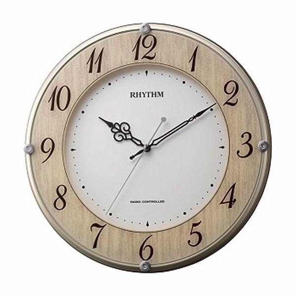 壁掛け時計 電波時計 8MY506SR23 連続秒針 スイープ ガラスへ文字入れ対応、有料 取り寄せ品