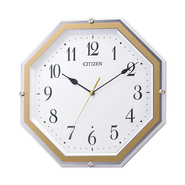 暗くなると秒針を止め 音がしない 壁掛け時計 電波時計 8MY544-003 連続秒針 スイープ CITIZEN シチズン 文字入れ対応、有料